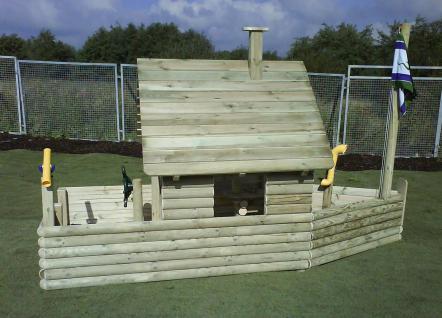 Spielhaus Spielschiff Kinderspielhaus Spielplatzschiff Niklas Standard Spielplatz allstars