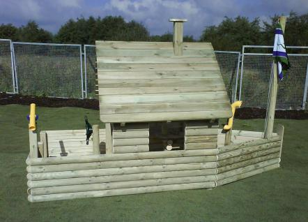 Spielhaus Spielschiff Niklas Standard Spielplatzschiff Spielplatz allstars