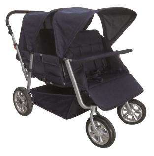 Krippenwagen 4-Sitzer Faltkrippenwagen Mehrkindwagen Kinderausflugswagen Allstars