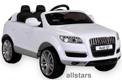 Kinderauto Elektro Audi Q7 E-Auto lizensiert 2x 45W-E-Motor weiss - Vorschau 1