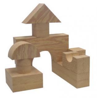 allstars Softbausteine Holzoptik Bausteine 32 Teile Holzbausteine