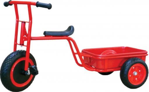 allstars Dreirad mit Ladefläche EVA-Räder KIGA-Roller Metallroller Kita
