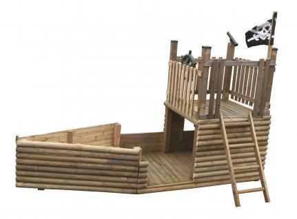 Spielschiff Spielplatz Piratenschiff großes Spielhaus Kletterturm Kletteranlage