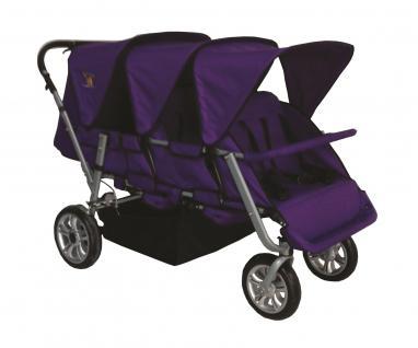 Allstars Krippenwagen Faltkrippenwagen Tina 6 Kleinkinder lila