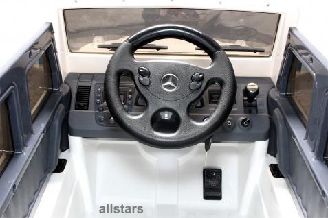 Elektro Kinderauto Mercedes AMG G55005 lizenziert Kinderjeep 70 W Fernbedienung weiß - Vorschau 3
