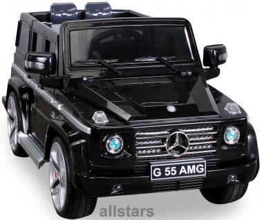 Elektro Kinderauto Mercedes AMG G55006 lizenziert Kinderjeep 70 W Fernbedienung schwarz