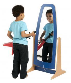 Allstars Standspiegel blau Kindermöbel Spiegel Holzspiegel