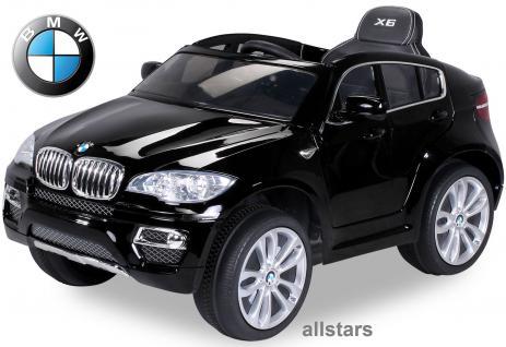 Elektro Kinderauto BMW X6 lizenziert E-Auto 90 W Fernbedienung schwarz