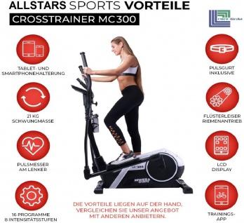 Actionbikes Sports Crosstrainer MC300 Fitnesstainer Heimtrainer Ergometer Ellipsentrainer Farbwahl Miweba