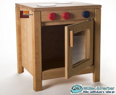 Allstars Kinderküche Spielküche 1 Herd mit Backofen H = 45, 5 cm aus Buchenholz