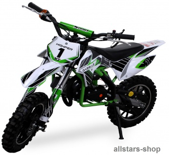 Actionbikes Kindermotorrad Kinder-Crossbike Poketbike Gazelle 49 cc Benzin-Motor grün