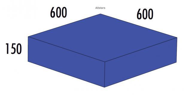 Bänfer Softbaustein Quader Blau 600 x 600 x 150 mm Maxi Schaumstoff-Baustein