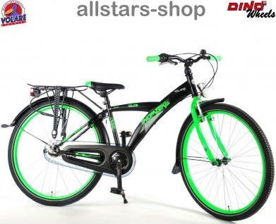"""Allstars Dino Wheels Bikes Thombike Kinderfahrrad Jungenfahrrad 26 """" mit 3-Gang-Naben-Schaltung grün"""