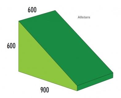 Bänfer Softbaustein Keil grün 600 x 900 x 600/60 Maxi Schaumstoff-Baustein Großbaustein