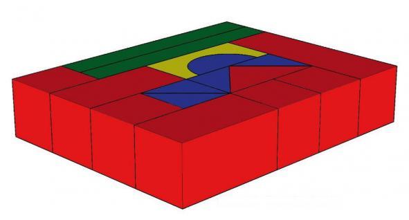 Bänfer Bausteinsatz 16-tlg. Softbausteine MINI Bausteine Großbausteine Schaumstoff - Vorschau 4