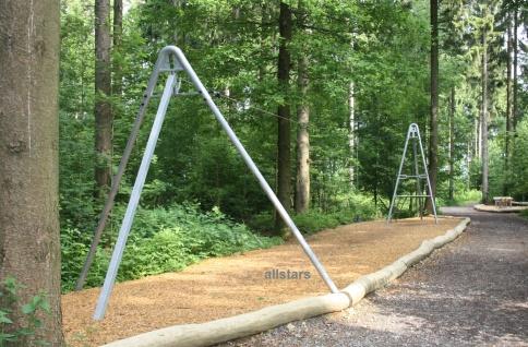 Beckmann Seilbahn Seilbahnsystem Tragseil 30 m Set mit Startstation, Leiter und Zielstation