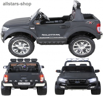 Actionbikes Kinderauto Ford Ranger Kinder-E-Auto 2-Sitzer 2 Kinder anthrazit
