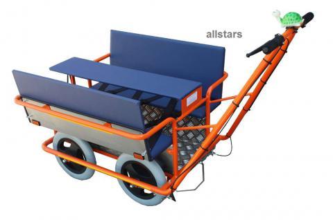 KiTa Krippenwagen Klassik Mehrkindwagen für 6 Kids Mehrlingswagen + Klapptisch - Vorschau 2