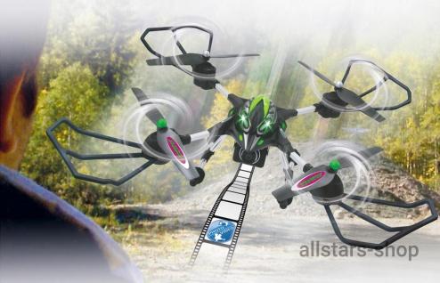 Jamara Oberon Altitude Drohne HD Kompass Turbo Quadrocopter Schw-Grün