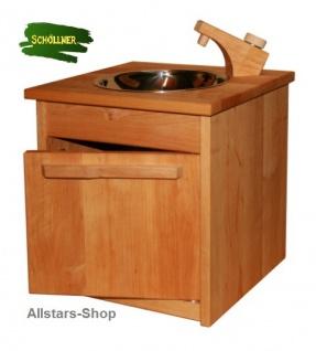 Schöllner Kinderküche Spielküche Star Maxi aus Holz mit Herdplatten Waschmaschine Backofen Schrank + Spüle für Kindergarten - Vorschau 2