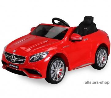 Actionbikes Kinderauto Elektro-Auto Mercedes AMG S63 Kinder-Elektroauto rot Miweba