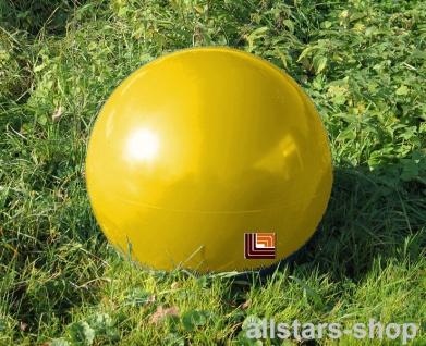 Beckmann Sitzelement Hocker rund Sitzgelegenheit Design-Kugel Ø = 50 cm gelb mit Bodenanker