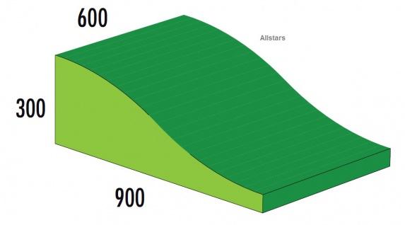 Bänfer Softbaustein Wellenkeil Grün 900 x 600 x 300/60 Maxi Schaumstoff Großbaustein
