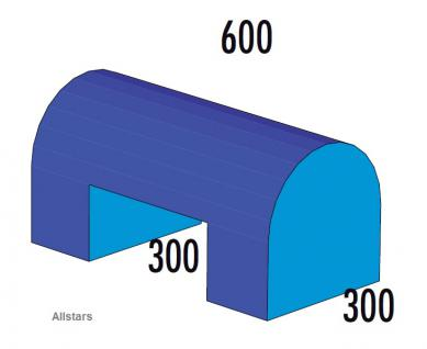 Bänfer Softbaustein Halbovalbrücke Blau 60 x 30 x 30 Maxi Schaumstoff-Baustein