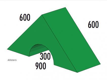 Bänfer Softbaustein Dreieck mit Ausschnitt 600x600 mm Maxi Schaumstoff-Baustein