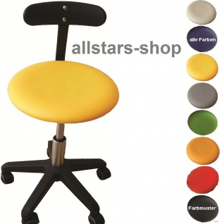 """Allstars Bürostuhl """"Octopus Beta"""" 42-55 cm Drehstuhl mit Rollen und PU-Beckenstütze gelb"""