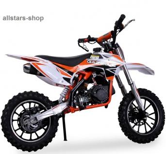 Actionbikes Kindermotorrad Kinder-Crossbike Poketbike Gazelle 49 cc Benzin-Motor orange - Vorschau 3