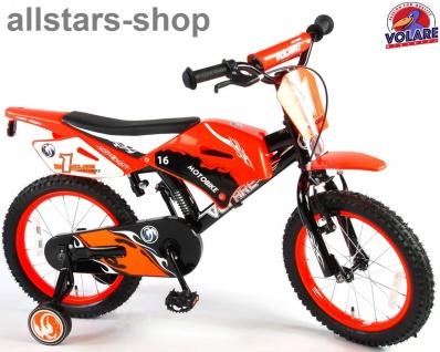 "Allstars Dino Wheels Bikes Kinderfahrrad 16 "" Motorradlook mit 2 Handbremsen Fahrrad orange"
