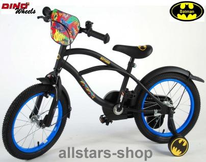 """Allstars Dino Wheels Bikes Kinderfahrrad Jungenfahrrad 12 """" Batman + Rücktrittbremse schwarz"""