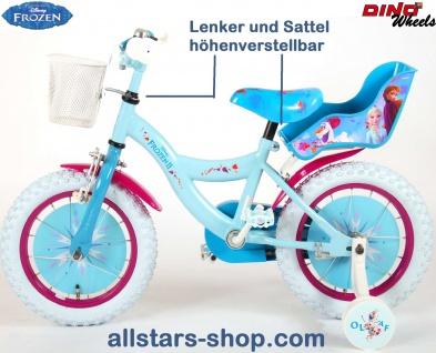 """Allstars Dino Wheels Bikes Disney Frozen Kinderfahrrad Mädchenfahrrad 14 """" mit Rücktrittbremse blau-lila - Vorschau 2"""