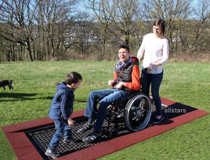 Hally-Gally Spogg Eingrabrahmen für Rollstuhltrampolin Trampolin Einbautrampolin