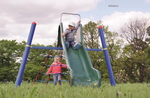 Huck Mini-M-Rutsche Spielplatzanlage Kletternetz Kleinkindrutsche