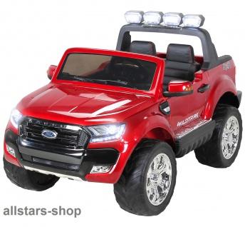 Actionbikes Kinderauto Ford Ranger Kinder-E-Auto 2-Sitzer rot Miweba