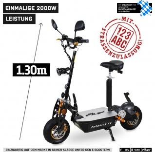 E-Scooter eFlux Freeride X2 2000 Watt 60 Volt mit Straßenzulassung schwarz-gelb