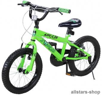 Actionbikes Kinderfahrrad - Zombie - 20 Zoll BMX grün-schwarz Bike Jungen Mädchen für Kindergarten Miweba