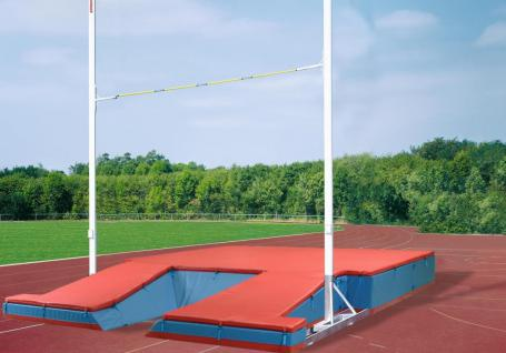 Turnen Stabhochsprunganlage Exklusiv IAAF rot proFlex Stabhochsprung Hochsprung Matte Bänfer