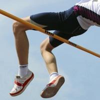 Turnen Stabhochsprunganlage Exklusiv 6, 5 x 5 m Hochsprungmatte Sport Bänfer - Vorschau 2