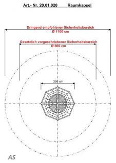 Hally-Gally Raumkapsel Spielplatzgeräte Karussell Raumkapsel Kletternetz Drehplatt - Vorschau 5