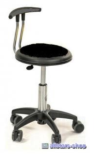 Allstars Stuhl Kinderstuhl Rollhocker Drehstuhl mit Lehne schwarz Rollstuhl Hocker