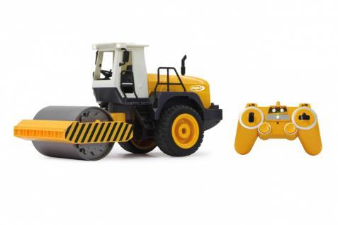 Jamara RC Auto Straßenwalze 1:20 Rüttelfunktion 2, 4GHz Baufahrzeug Funk - Vorschau 5