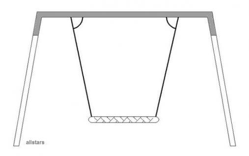Beckmann Schaukel-Kopfbalken Nestschaukel Vogelnest Stahl Schaukel ohne Ketten - Vorschau 2