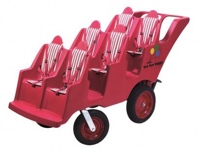 Krippenwagen Sechssitzer 6-sitziger Mehrkindwagen Farbe:rot Mehrlingswagen Kita - Vorschau