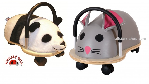 Wheely Bug Rutscher Panda und Maus Kleinkindrutscher klein 360 Grad rundum allstars
