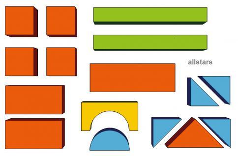 Bänfer Bausteinsatz 16-tlg. Softbausteine MINI Bausteine Großbausteine Schaumstoff - Vorschau 2