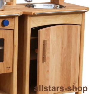 Schöllner Kinderküche Vario Single mit 2 Einheiten Herd Backofen Kühlschrank Spüle Spielküche Erlenholz Pantry - Vorschau 3