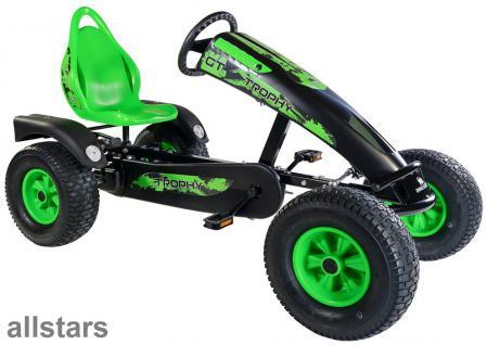 DinoCars Dino Cars Kettcar GoCart GoKart Trophy BF1 schwarz grün Tretauto